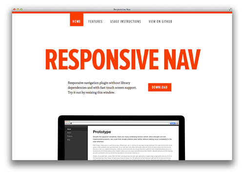 Official site of Responsive Nav plugin.