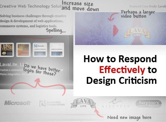 How to Respond Effectively to Design Criticism