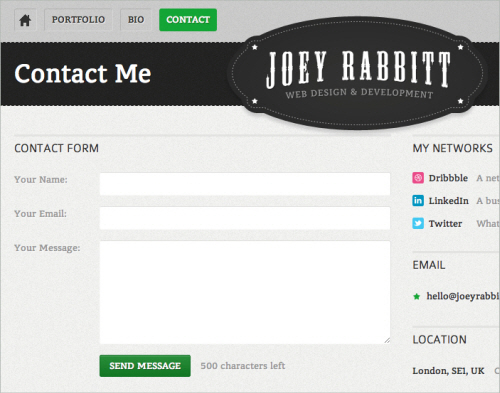 4joey in Best Practices of Web Form Design