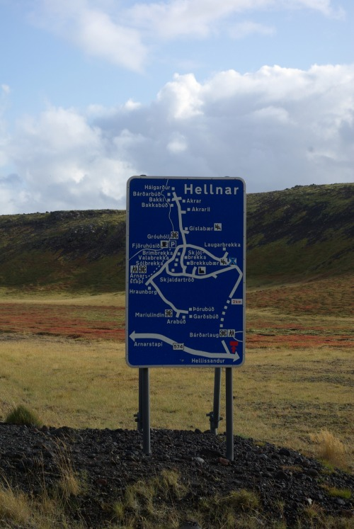 Wayfinding and Typographic Signs - icelandic-road-map-sign
