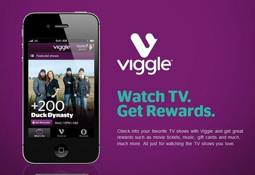 The Viggle app rewards you for watching TV.