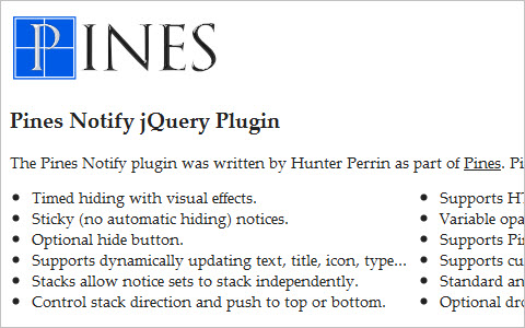 Pines Notify jQuery Plugin