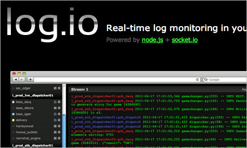 Log.io - Real-time log monitoring in your browser