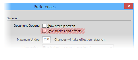 Scale stroke and effects