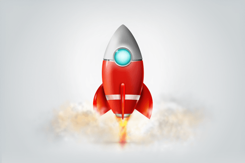 Download the layered Fireworks PNG file [Rocket-Icon-Design.fw.png]