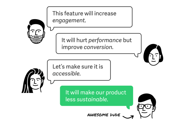 Designing the product for sustainability