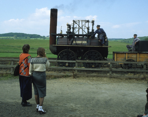 "Puffing Billy,"" a giant boiler on wheels with a beam engine."