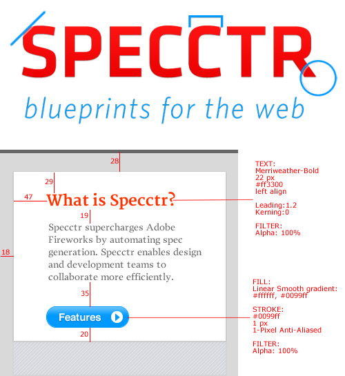 blueprints for the web specctr adobe fireworks plugin smashing