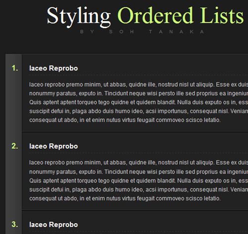 Sexy Ordered Lists with CSS