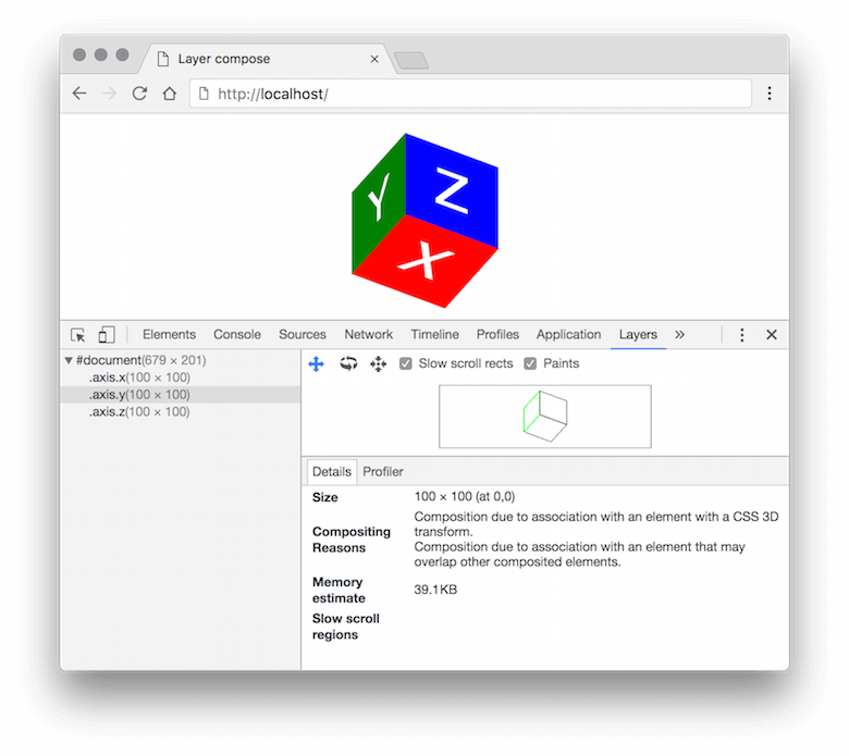 Chrome with DevTools