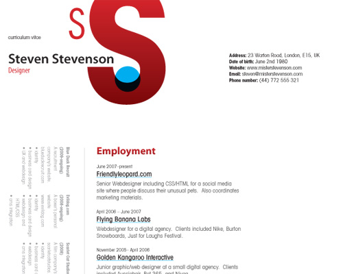 how to create a great web designer résumé and cv smashing magazine