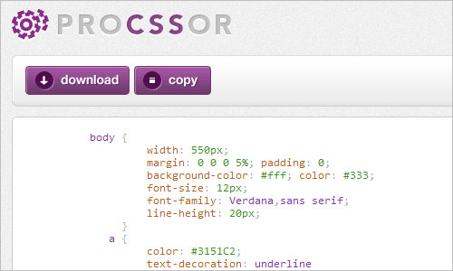 ProCSSor - Advanced CSS Prettifier