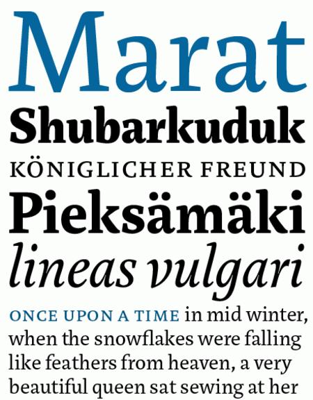 Professional Typefaces - Marat