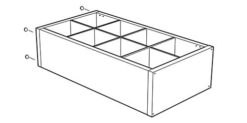 Ikea Kalax bookcase assembled