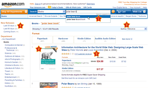 Best practices in Amazon's search results