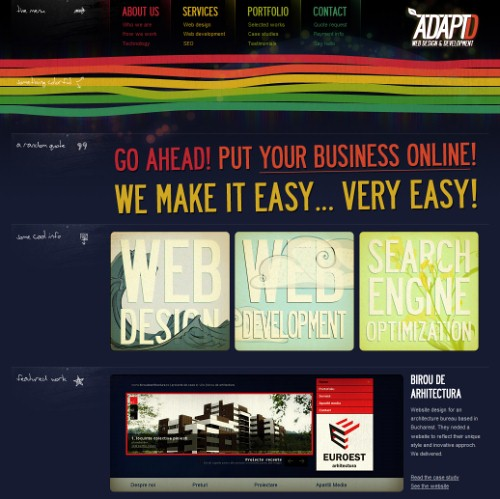 Retro and Vintage Designs - AdaptD.com - Web Design and Development