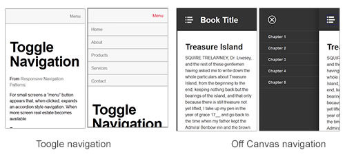 Toggle navigation example