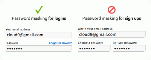 Better Password Masking For Sign-Up Forms