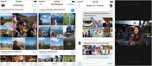 Carousel mobile app