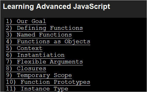 Learning Advanced JavaScript
