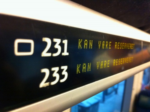 Wayfinding and Typographic Signs - train