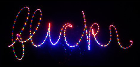Lettering and Handwriting - Flickr in Lights 3